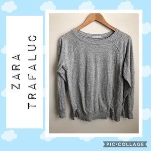 Zara Trafaluc Lightweight Gray Sweatshirt  💗